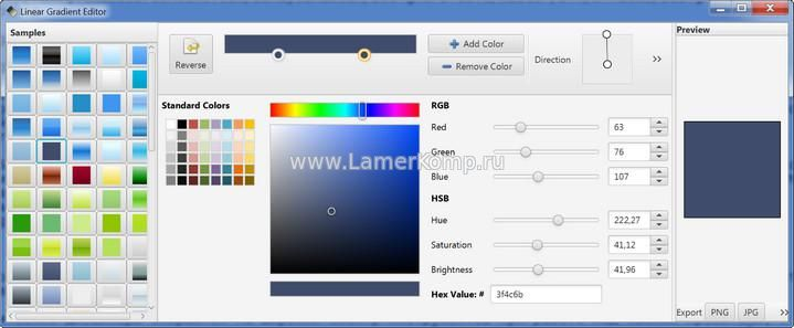 Linear Gradient Editor