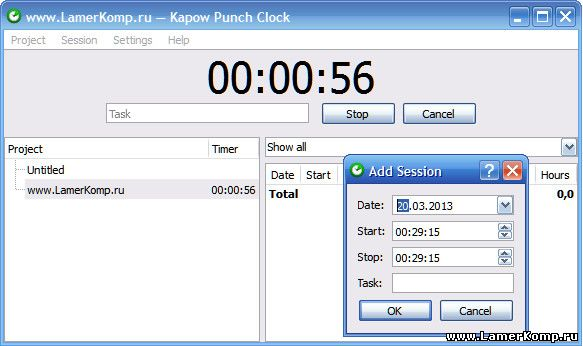 Kapow Punch Clock